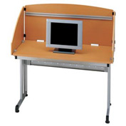 "Study Carrel 48"" - Maple & Silver"