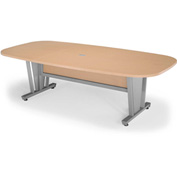 "Modular Conference Table 48""Dx94-1/2""W - Maple & Silver"