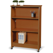 Milano Series - Wood Bookcase 3 Shelf - Cherry