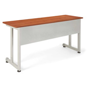 "OFM Training Table - 55""Wx20""D - Cherry & Silver"