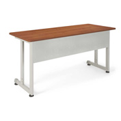 "Modular Training/Utility Table 55""Wx24""D - Cherry & Silver"