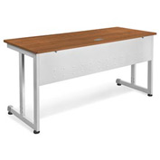 "Modular Desk/Worktable 24""Dx60""W - Cherry & Silver"