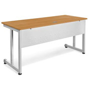 "Modular Desk/Worktable 24""Dx60""W - Maple & Silver"
