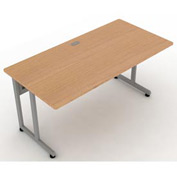 "OFM Modular Desk/Worktable, 30""D x 60""W x 29-1/2""H, Maple with Silver"