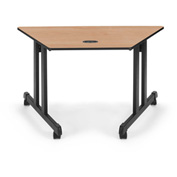 "OFM Trapezoid Table - 48""L x 24""W Maple"