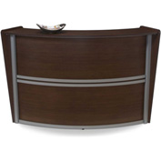 Marque Single Reception Station - Walnut