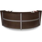 "OFM Reception Desk - 2 Unit - 124""W - Walnut - Marque Series"