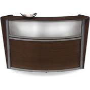 "Single Marque Plexi Station, 72""W x 32""D x 45-1/2""H, Walnut"