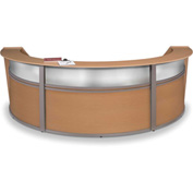 "OFM Reception Desk - 3 Unit with Window - 143""W - Maple - Marque Series"
