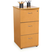 Milano Series - Three Drawer File with Lock - Maple