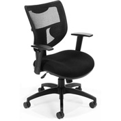 Mesh Black Chair, No Headrest - Black
