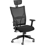 OFM Executive Office Chair with Arms - Fabric - High Back - Black - Talisto Series