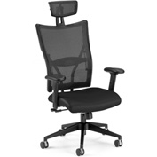 OFM Executive Office Chair with Arms - Leather - High Back - Black - Talisto Series