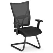 OFM Executive Guest Chair with Arms - Fabric - Mid Back - Black - Talisto Series
