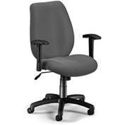 OFM Manager's Office Chair with Arms - Fabric - Mid Back - Graphite