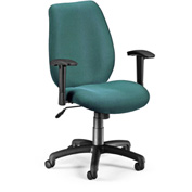 OFM Manager's Office Chair with Arms - Fabric - Mid Back - Teal
