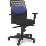 OFM Executive Task Chair with Knee Tilt - Fabric - Blue - AirFlo Series