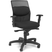 OFM Executive Task Chair with Knee Tilt - Fabric - Black - AirFlo Series