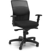 OFM Executive Task Chair with Knee Tilt - Fabric - Gray - AirFlo Series