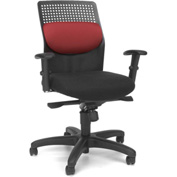 OFM Executive Task Chair with Knee Tilt - Fabric - Burgundy - AirFlo Series