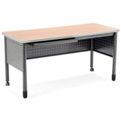 "Mesa Series - Table with Drawers 25.5""Dx55""W - Maple"