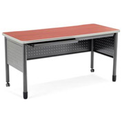 "OFM Steel Desk with Pencil Drawer - 25 -1/2""D x 59""W - Cherry - Mesa Series"