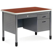 "OFM Sales Desk with Center Drawer - 26-1/2""D x 42W"" - Cherry - Mesa Series"