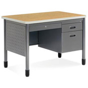 "OFM Sales Desk with Center Drawer - 26-1/2""D x 42W"" - Oak - Mesa Series"