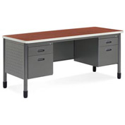 "OFM Credenza for Mesa Series - Double Pedestal - 27""D x 67W"" - Cherry"