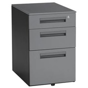 "OFM Mobile Pedestal with 3 Drawers - 15-1/2""W x 23""D - Gray - Mesa Series"