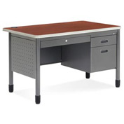 "OFM Teacher's Desk with Center Drawer - 30""D x 48W"" - Cherry - Mesa Series"