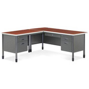 "OFM L Desk with Left Return - 30""D x 67""W - Cherry - Mesa Series"