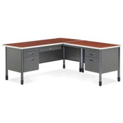 "Mesa Series - Secretarial Desk with Right Return 30""Dx66""W - Cherry"