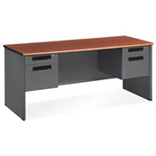 "OFM Credenza for Executive Series - Double Pedestal - 26-1/2""D x 67""W - Cherry"