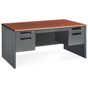 "Executive Series - Panel End Desk 30""D x 60""W - Cherry"