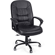 OFM Big & Tall Executive Leather Chair - 400 lb Capacity - Black