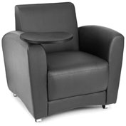 OFM Guest Chair with Tablet Arms - Black Seat/Back with Tungston Table - Interplay Series
