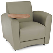 OFM Guest Chair with Tablet Arms - Taupe Seat/Back with Bronze Table - Interplay Series