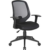 OFM Mesh Task Chair with Arms - Fabric - Mid Back - Black - Essential Series