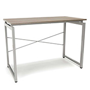OFM Floating Top Office Desk - Driftwood - Essentials Series