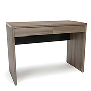 OFM 2-Drawer Solid Panel Office Desk - Driftwood - Essentials Series