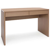 OFM 2-Drawer Solid Panel Office Desk - Harvest - Essentials Series