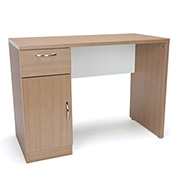 OFM Single Pedestal Office Desk with Drawer and Cabinet - Harvest - Essentials Series