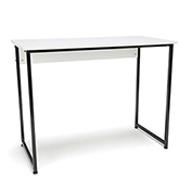 OFM Office Computer Desk - White with Black Metal Frame - Essentials Series