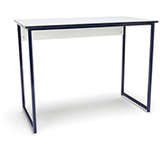 OFM Office Computer Desk - White with Blue Metal Frame - Essentials Series