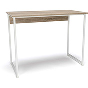 OFM Office Computer Desk - Natural with White Metal Frame - Essentials Series