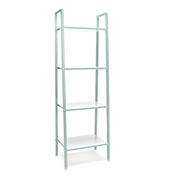 OFM 4-Shelf Office Bookshelf - White with Teal Steel Frame - Essentials Series