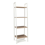 OFM 4-Shelf Office Bookshelf - Natural with White Steel Frame - Essentials Series