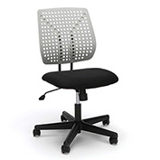 OFM Plastic Back Task Chair - Fabric Seat - Gray - Essentials Series