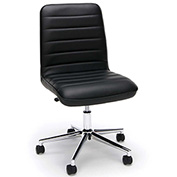 OFM Leather Mid-Back Office Chair - Black - Essentials Series